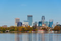 Minneapolis Skyline View from Lake Calhoun Royalty Free Stock Photo