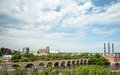 Minneapolis Stone Bridge over the Mississippi River Royalty Free Stock Photo