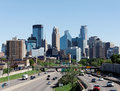 Minneapolis a view of the skyline of downtown minnesota Royalty Free Stock Photo