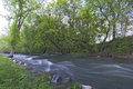 Minnehaha river banks along of in park of minneapolis minnesota Stock Image