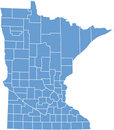 Minnesota State by counties Royalty Free Stock Images