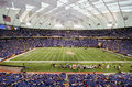 Minnesota vikings game at mall of america field also known as the hubert h humphrey metrodome during a nfl football Royalty Free Stock Photo