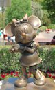 Minnie mouse statute at disneyland in anaheim california this is the on display the main street square Stock Photo