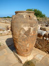 A minoan amphora ancient in malia crete Royalty Free Stock Photography