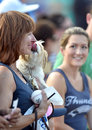 Minor league baseball trenton nj july a cute dog gives it s owner a kiss at bring your dog to the park day with the trenton Royalty Free Stock Photos