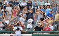 Minor league baseball trenton nj july fans go for a foul ball during the eastern game july in trenton nj Stock Photography