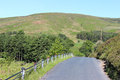 Minor road through trough of bowland lancashire looking west along the that runs the area outstanding natural beauty in the Stock Photos