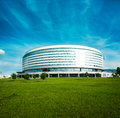 Minsk Arena in Belarus. Ice Hockey Stadium. Royalty Free Stock Photo