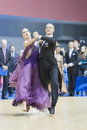 MINSK-BELARUS, FEBRUARY, 9: Unidentified Dance couple performs A Royalty Free Stock Image