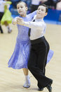 MINSK-BELARUS, FEBRUARY, 9: Unidentified Dance couple performs J Royalty Free Stock Photo
