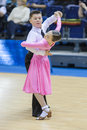 MINSK-BELARUS, FEBRUARY, 9: Unidentified Dance couple performs J Stock Image