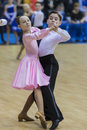MINSK-BELARUS, FEBRUARY, 9: Unidentified Dance couple performs J Stock Photos