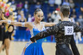 MINSK-BELARUS, FEBRUARY, 9: Unidentified Dance Couple Performs Y Stock Photography
