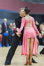 MINSK-BELARUS, FEBRUARY, 9: Unidentified Dance Couple Performs Y Stock Photo