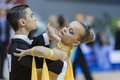 MINSK-BELARUS, FEBRUARY, 9: Unidentified Dance Couple performs Y Royalty Free Stock Photography