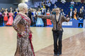 Minsk belarus february igor sivov elena sobol perform s senior latin american program on open wdsf championship on in Royalty Free Stock Photography