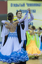 Minsk belarus february unidentified dance couple performs juvenile standard european program on wdsf championship on Stock Images