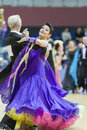 Minsk belarus march evgeniy zhukov – irina zhukova perfo perform senior standard european program on national wdsf championship Stock Photos