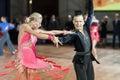 Minsk belarus september egor kosyakov and anastasiya belmach perform youth latin american program on iii international idsa world Stock Image