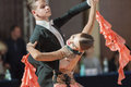 Minsk belarus september ermolovich konstantin and sne snegir anna perform juniors standard program on iii international idsa world Stock Image