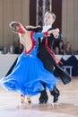 Minsk belarus september prohorenko dmitry and rymchen rymchenok valeriya perform juniors standard program on iii international Royalty Free Stock Photo