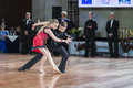 Minsk belarus –september tchizhik svyatoslav and le lepko veronika perform juvenile latin american program on iii international Stock Image