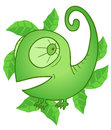 Mint chameleon creative design of Stock Image