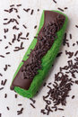 Mint and chocolate marron cookies Royalty Free Stock Image
