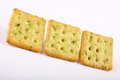 Mint crackers in square shape. Royalty Free Stock Photo