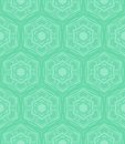 Mint green geometric pattern in s style hexagon and tropical aqua blue colors texture for web print wallpaper home decor spring Stock Images
