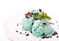 Mint ice cream close-up Royalty Free Stock Photo
