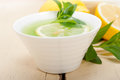 Mint infusion tea tisane with lemon Royalty Free Stock Photo