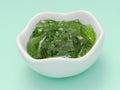 Mint jelly jam sauce Royalty Free Stock Photo