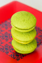 Mint marron cookies Stock Photography