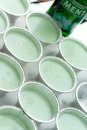 Mint panna cotta Royalty Free Stock Images