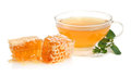 Mint tea and honey Stock Photo