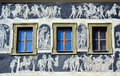 The Minute House facade detail, Prague Royalty Free Stock Images
