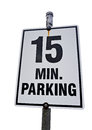 15 Minute Parking sign Royalty Free Stock Photo