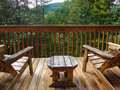 Minute of rest wooden chairs north carolina to have a in october during autumn vacation Royalty Free Stock Image