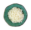 Minute rice decorative bowl a serving of fluffy cooked from above Stock Photo