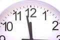 Minutes to twelve clock shows a couple of until the start of the new year photography Royalty Free Stock Photo