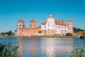 Mir, Belarus. View Of Mir Castle Complex, Ancient Monument, Unesco Royalty Free Stock Photo