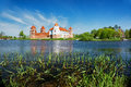Mir castle in belarus medieval village Royalty Free Stock Photography