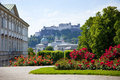 Mirabell gardens in salzburg Royalty Free Stock Photography