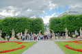 Mirabell gardens in salzburg austria alzburg july on july were opened to public today they are a horticultural Stock Photography