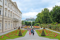 Mirabell gardens in salzburg austria july tourists visit the on july were opened to public today they Stock Image