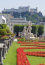 Mirabell palace idyllic scenery around in salzburg a town in austria Royalty Free Stock Image