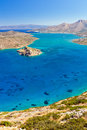 Mirabello bay with Spinalonga island on Crete Stock Images