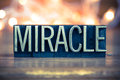 Miracle Concept Metal Letterpress Type Royalty Free Stock Photo