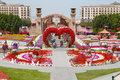 Miracle garden dubai uae march hearts way in dubai in the uae on march it has over million flowers Royalty Free Stock Photos